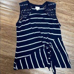 Striped blue summer tank top.